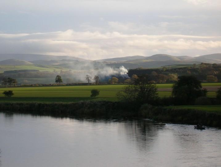 Smoke, Fields, River Tweed