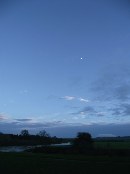 Moon over River Tweed