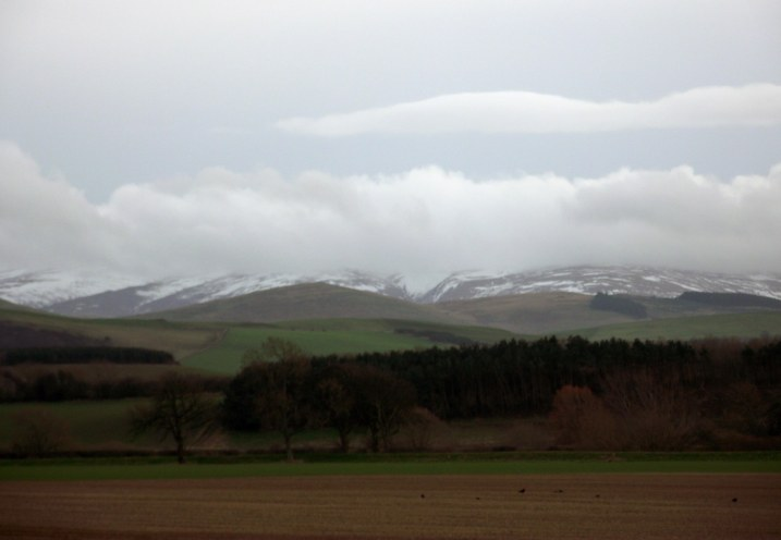 a snow on hills