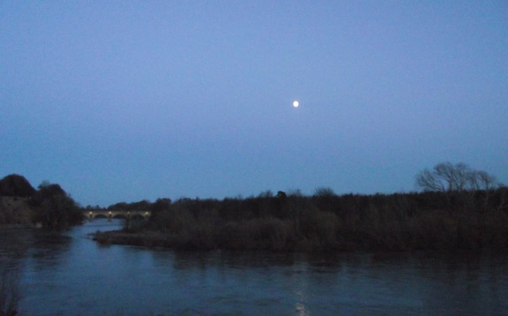 Moon, Coldstream Birdge, River Tweed