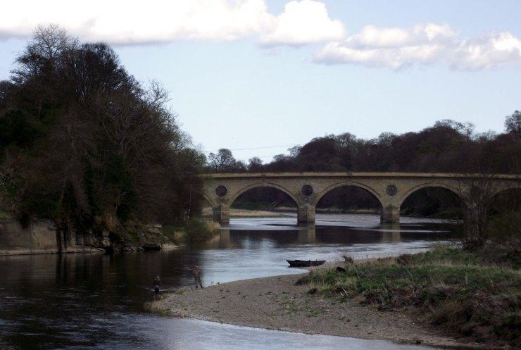 Fishing By Coldstream Bridge