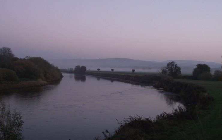 edge of evening, mist, Tweed