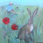 boy-watching-hare
